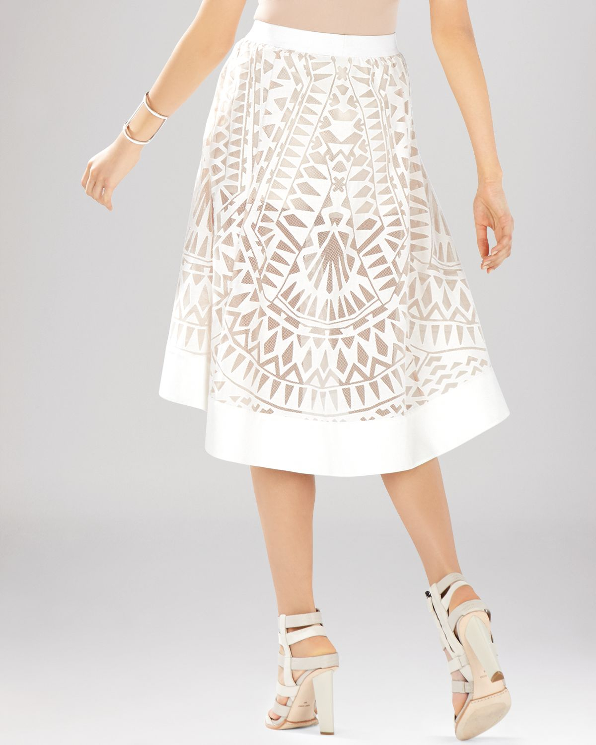 Lace White Skirt - Skirts