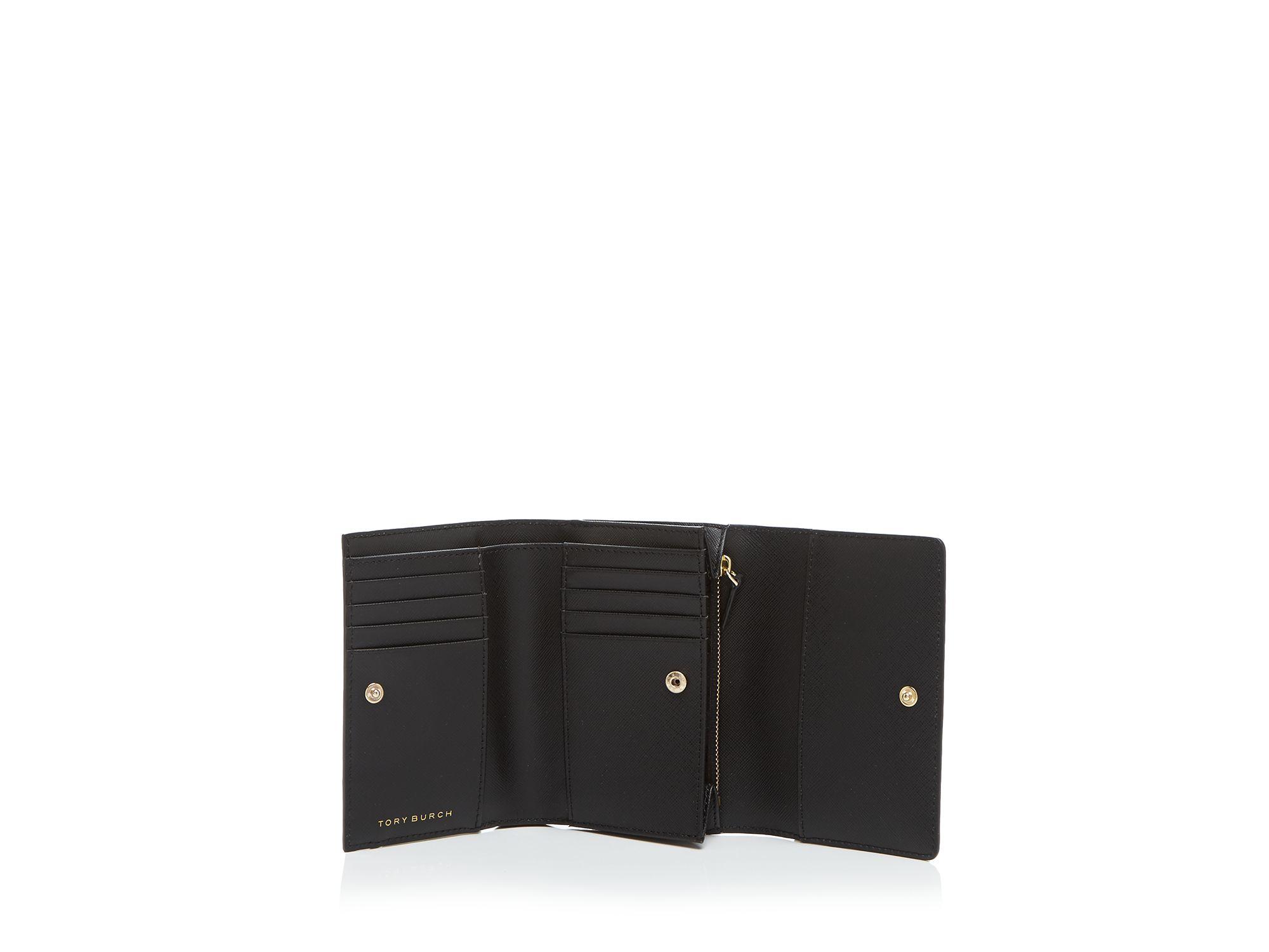 Lyst - Tory burch Wallet - Robinson Medium Flap Tri-fold in Brown