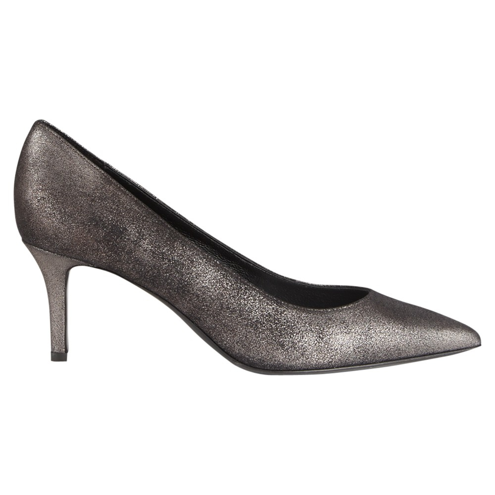078ae13600 Jigsaw Milly Suede Pointed Court Shoes in Black - Lyst