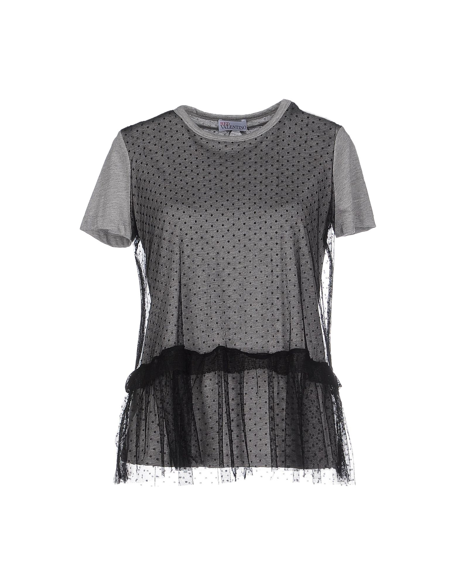 Red valentino t shirt in gray lyst for Red valentino t shirt