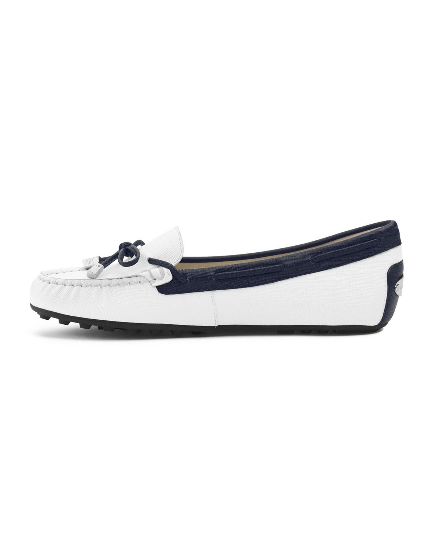 Lyst Michael Kors Daisy Loafer In Blue Clarette Sneakers Clarissa Black Gallery