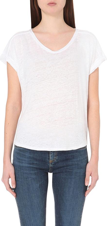 lyst rag bone cargo linen t shirt in white
