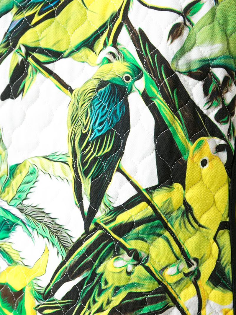 Lyst Roberto Cavalli Tropical Parrot Print Dress In Green