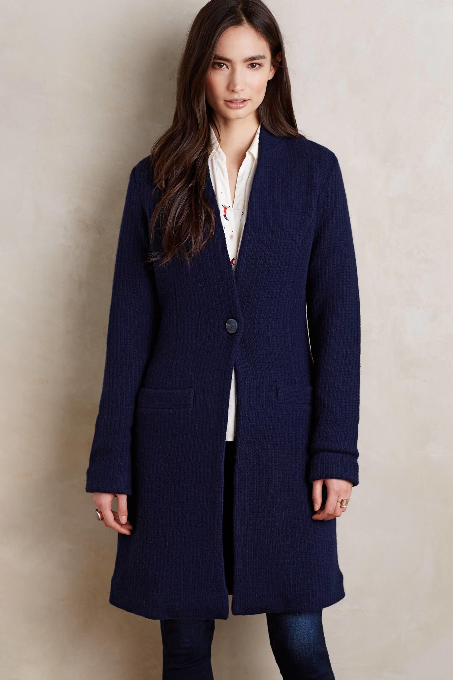 Moth Westwater Sweater Coat in Blue | Lyst