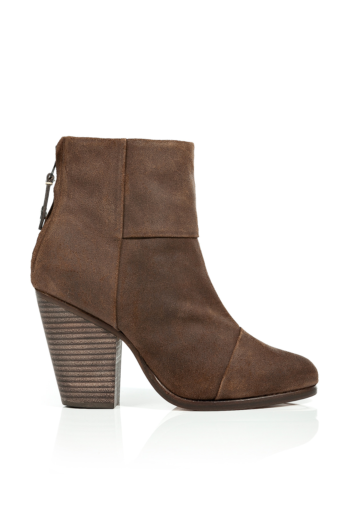 rag bone classic suede newbury ankle boots in white lyst