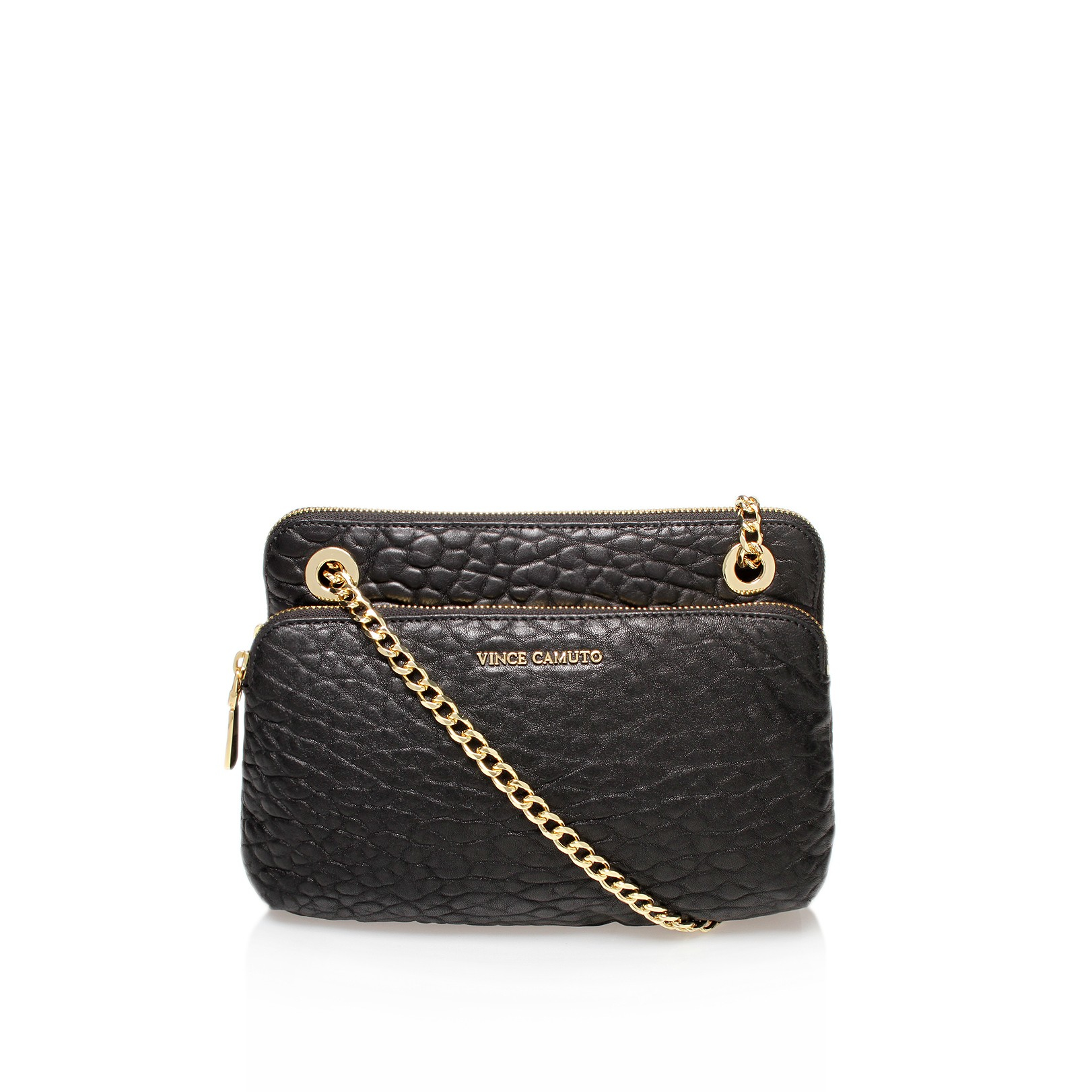 Vince Camuto Leather Lizel Small Crossbody in Black