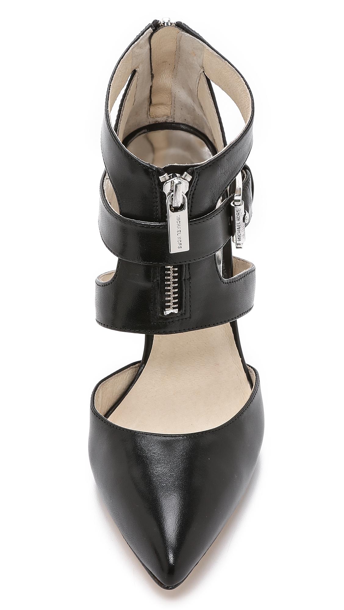 b4aee679496 MICHAEL Michael Kors Anya Back Zip Pumps - Black in Black - Lyst