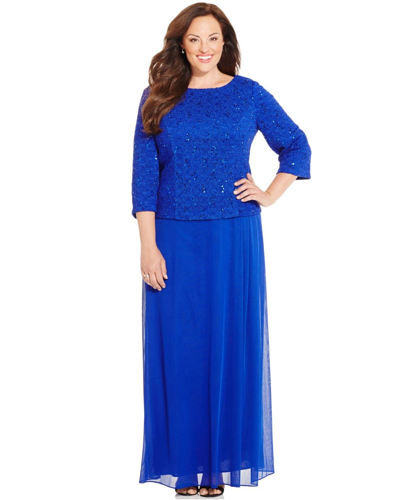 alex evenings plus size dress - gaussianblur