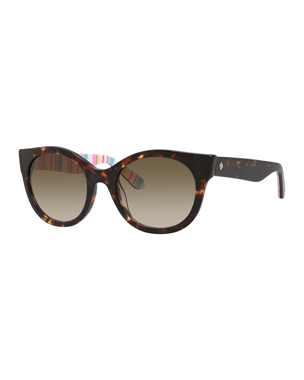 b5a8a723a33e Kate Spade Melly Cat-eye Plastic Sunglasses in Brown - Lyst