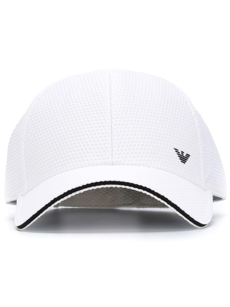 Lyst - Emporio Armani Baseball Cap in White for Men e383264abcf