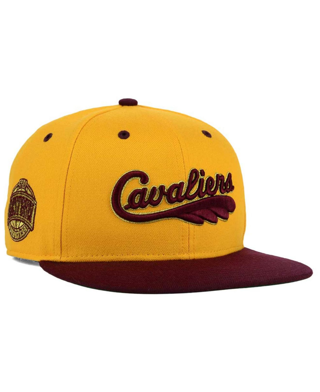 size 40 7434a 1e776 ... cheap nba cleveland cavaliers snapback lebron james wine yellow lyst 47  brand cleveland cavaliers hwc gold purchase 2014 new era ...
