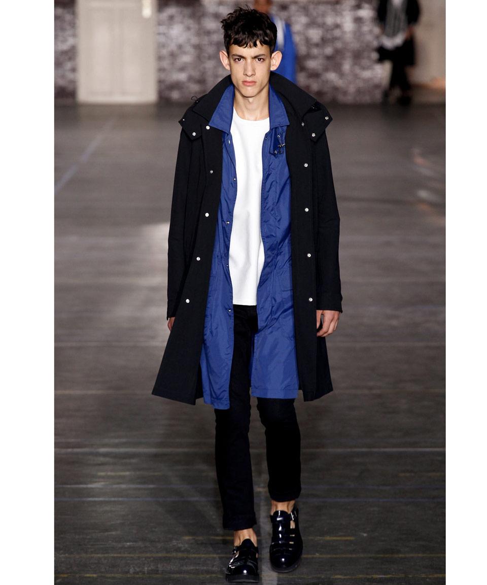 Ami Black Hooded Parka Jacket in Black for Men | Lyst