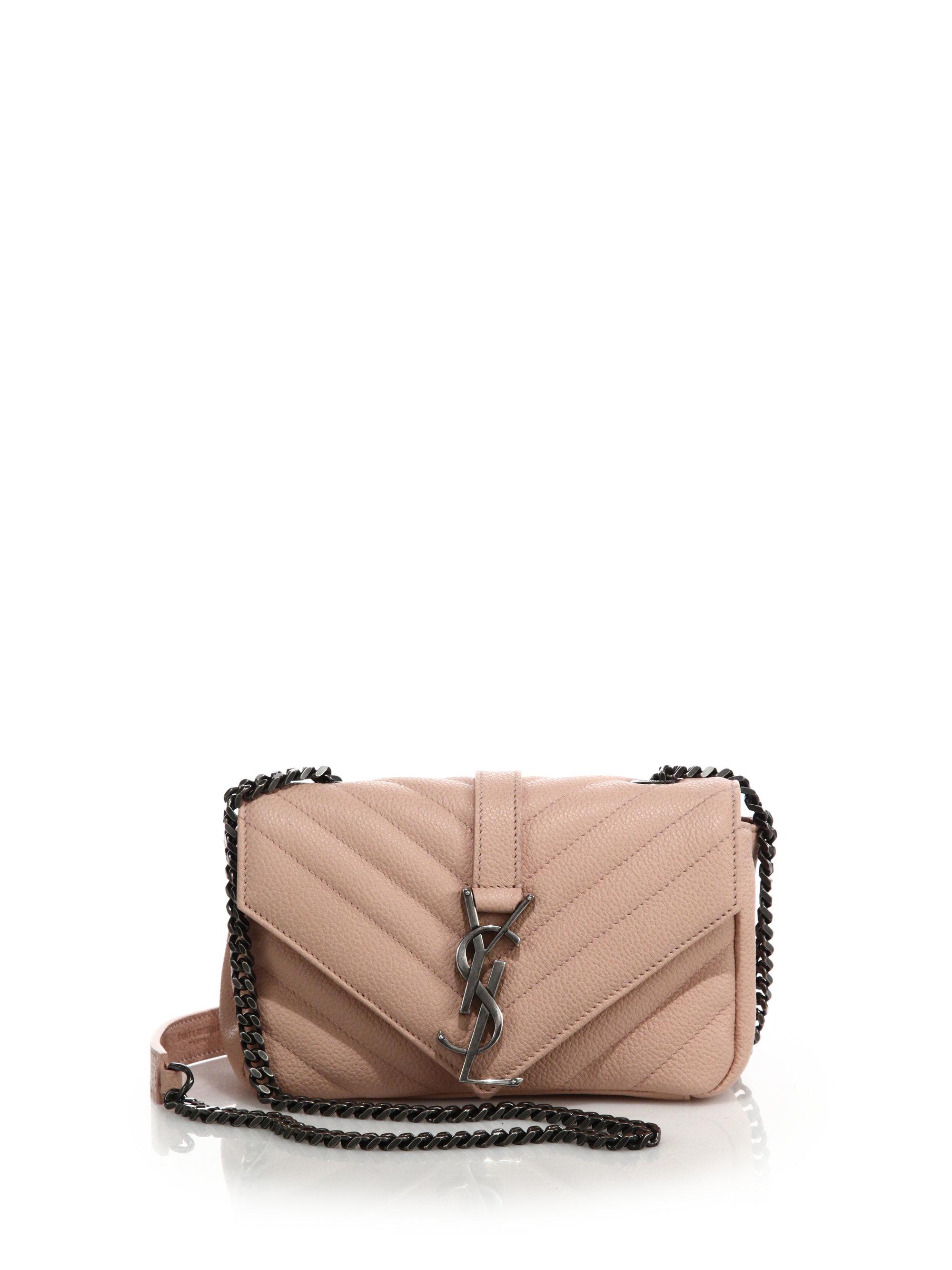 248999329757 Lyst - Saint Laurent Monogram Baby Matelasse Leather Crossbody Bag ...