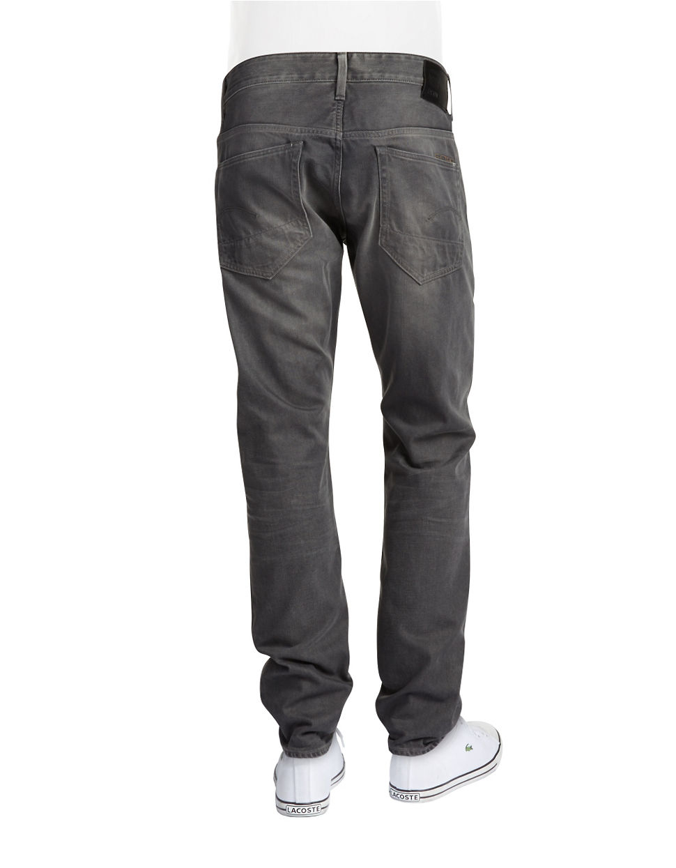 g star raw tapered jeans in gray for men lyst. Black Bedroom Furniture Sets. Home Design Ideas