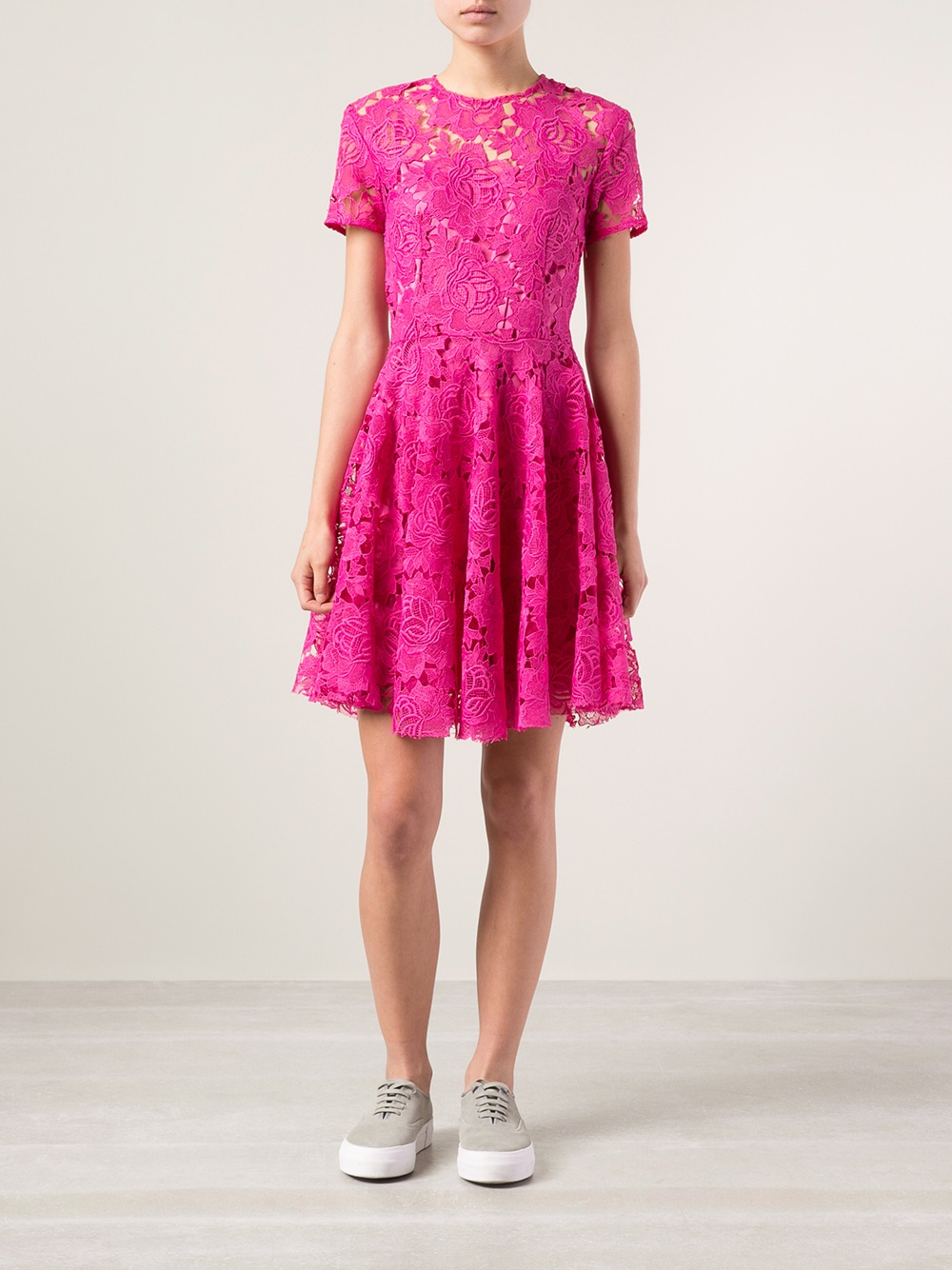Lyst House Of Holland Lace Boater Dress In Pink