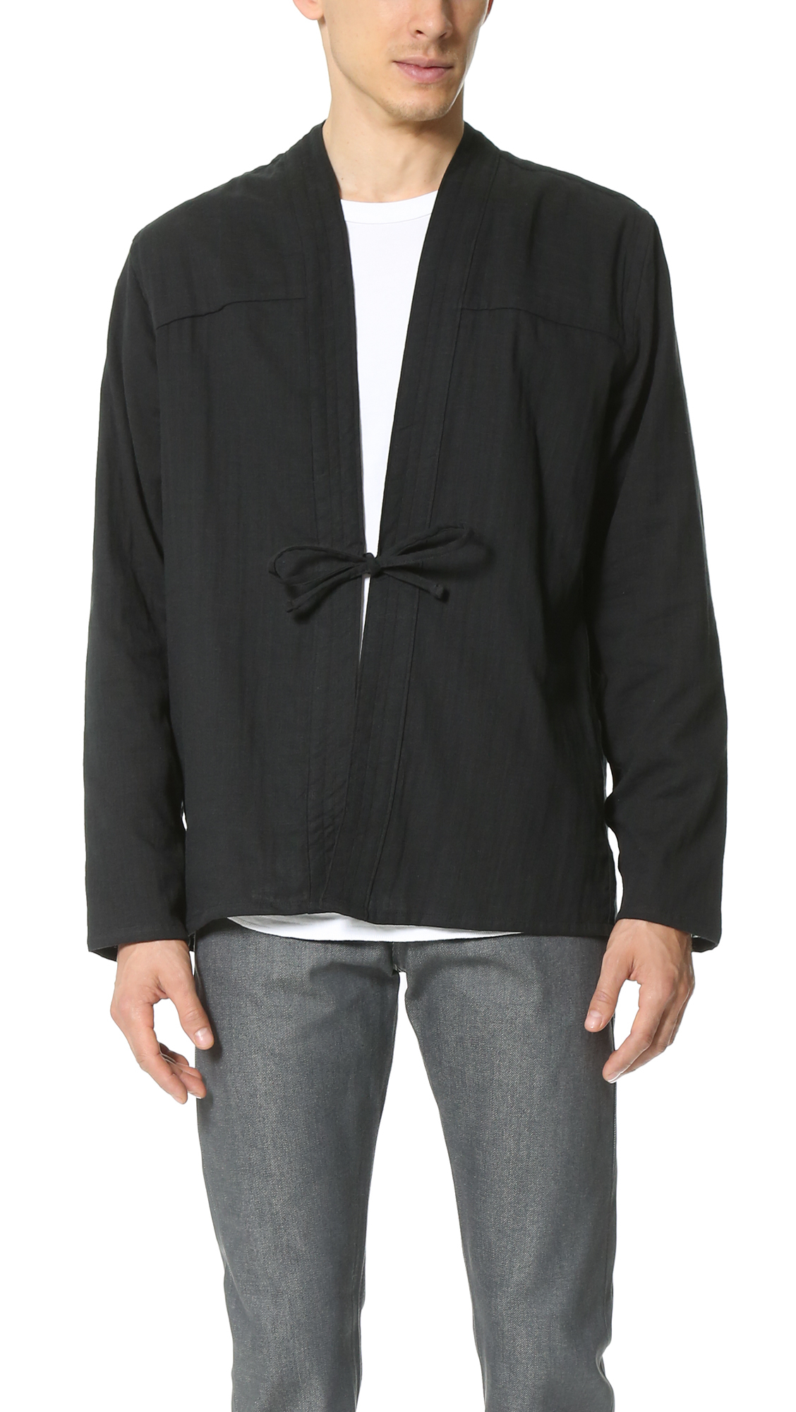 Lyst - Naked  Famous Kimono Shirt In Black For Men-3223