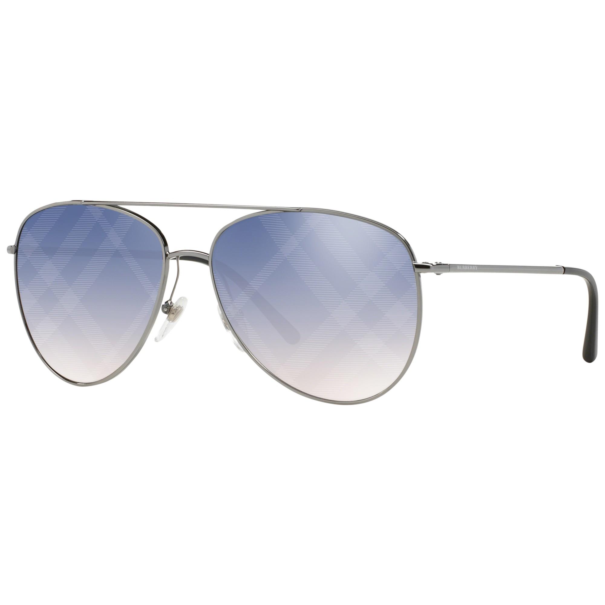 42174a0ca5b Burberry Be3072 Aviator Sunglasses in Blue - Lyst