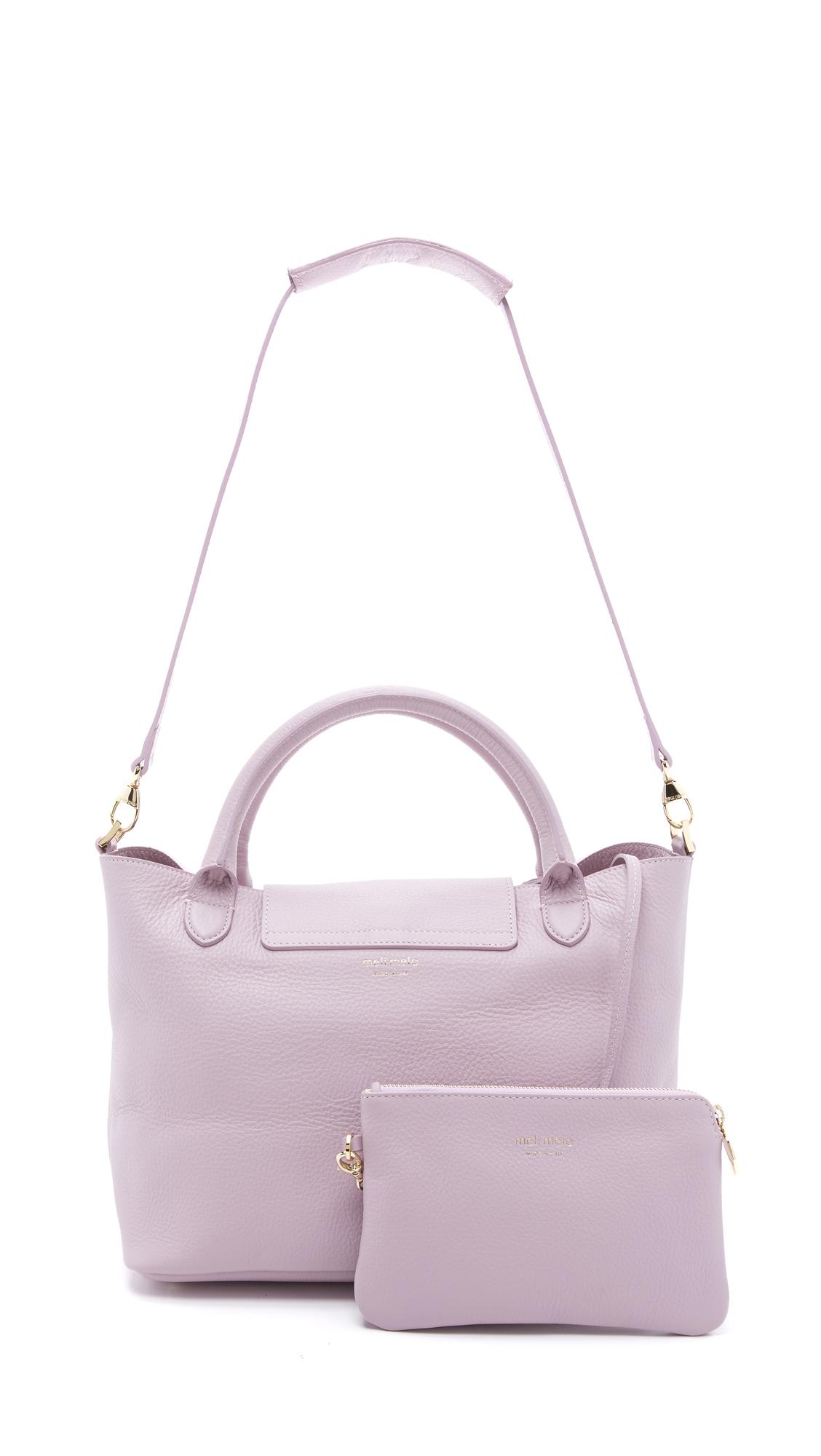 meli melo medium thela halo bag in pink lyst. Black Bedroom Furniture Sets. Home Design Ideas