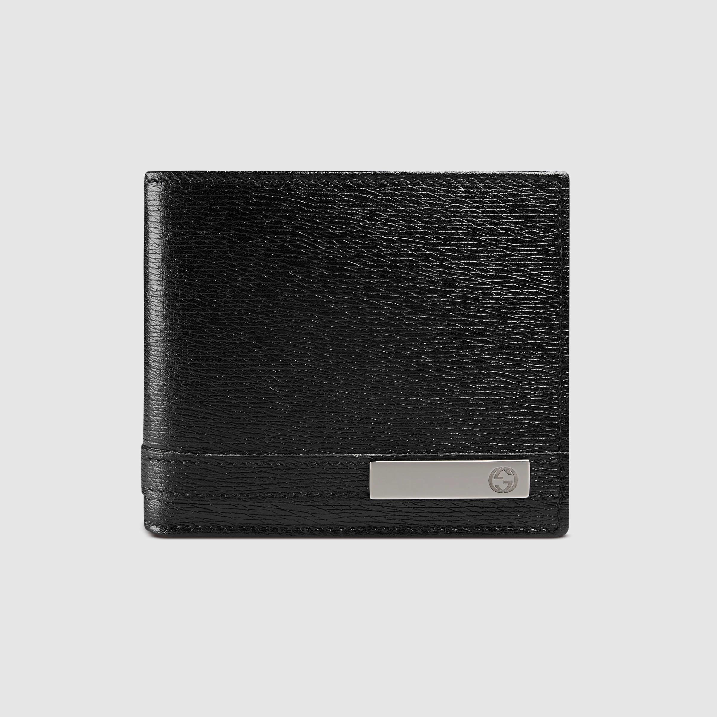 7fcdfe1860af Gucci Leather Wallet in Black for Men - Lyst