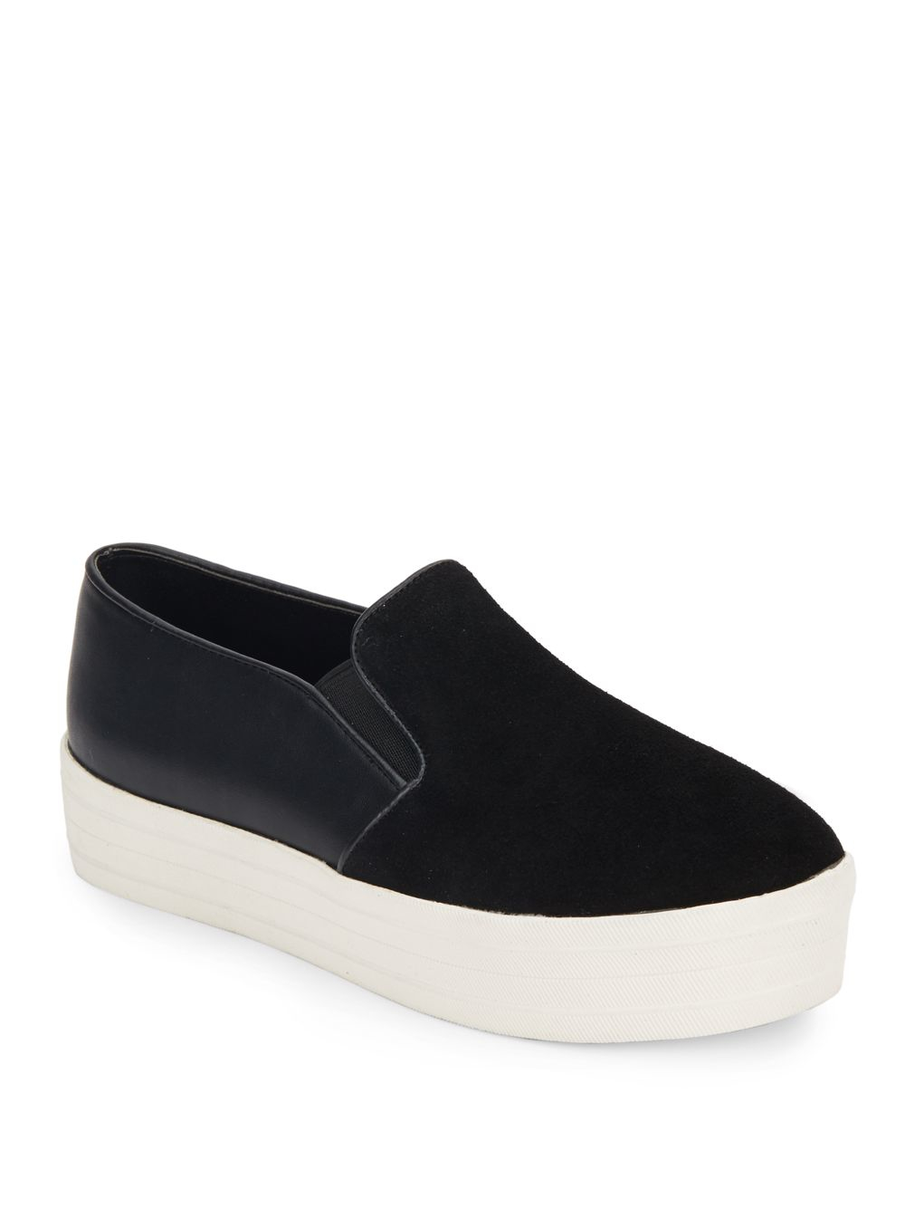bd58f239402 Steve Madden Black Buhba Suede & Patent Slip-on Sneakers