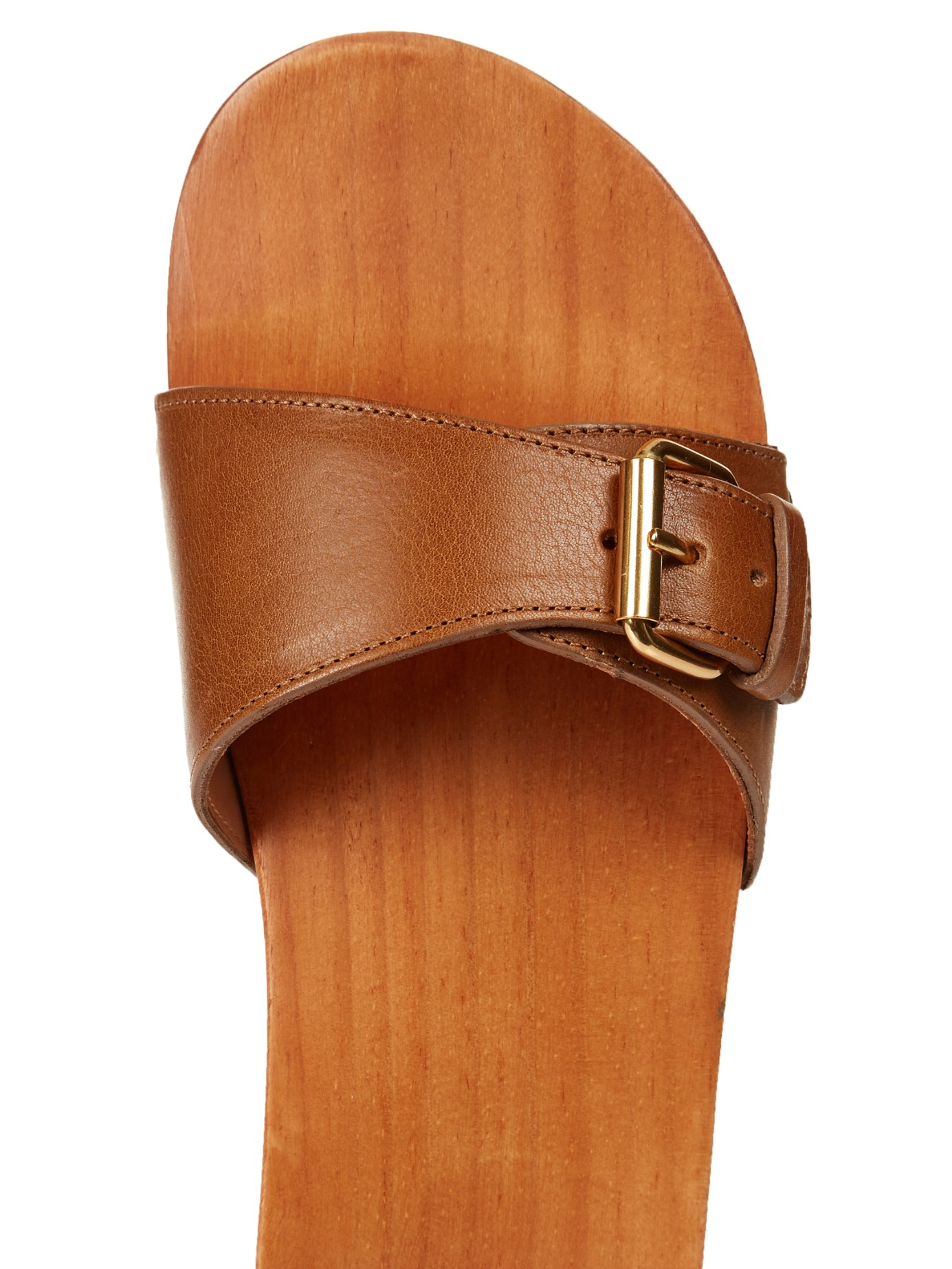 Isabel Marant 201 Toile Tadley Wooden Sandals In Brown Lyst