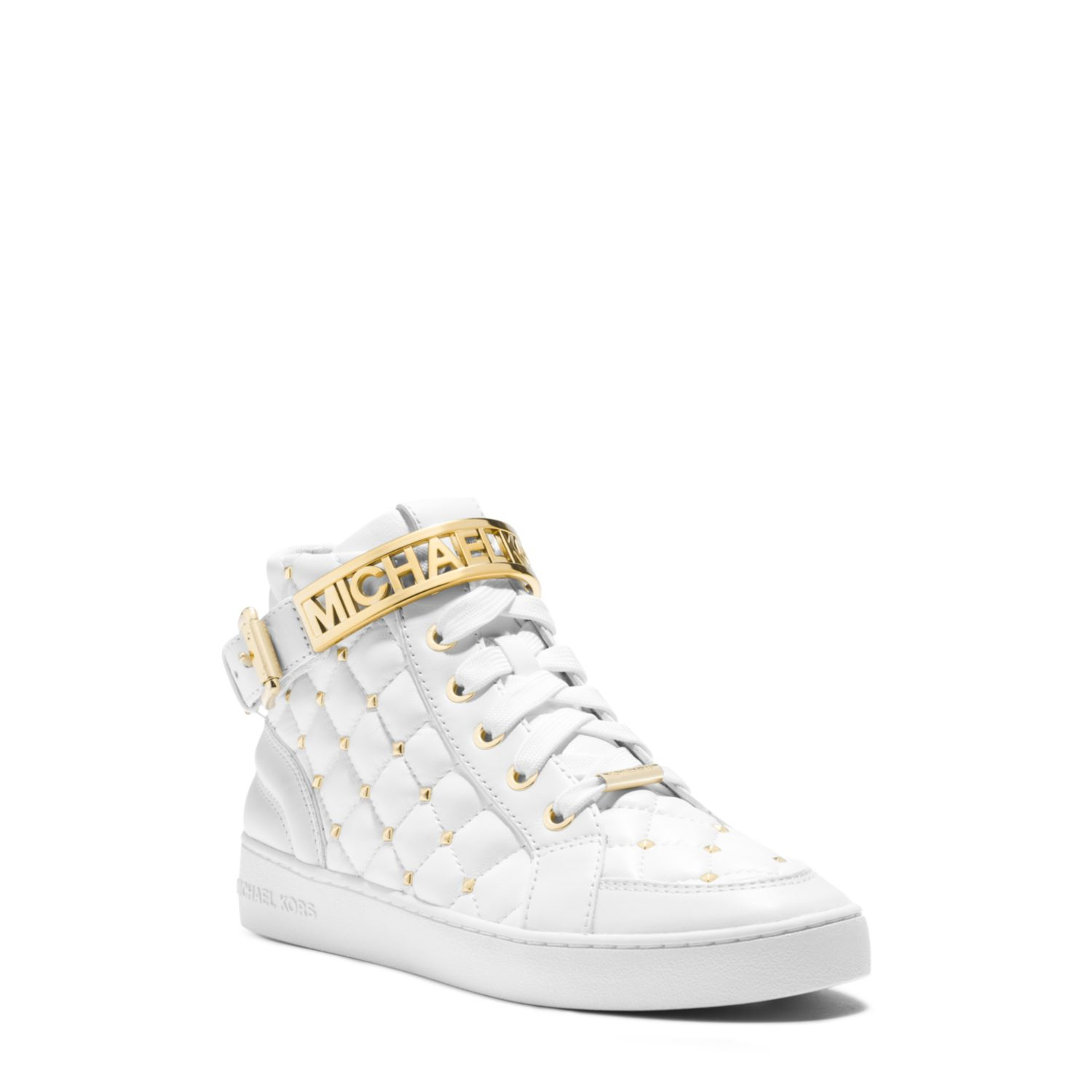 Michael Kors Essex Studded Quilted Leather High Top