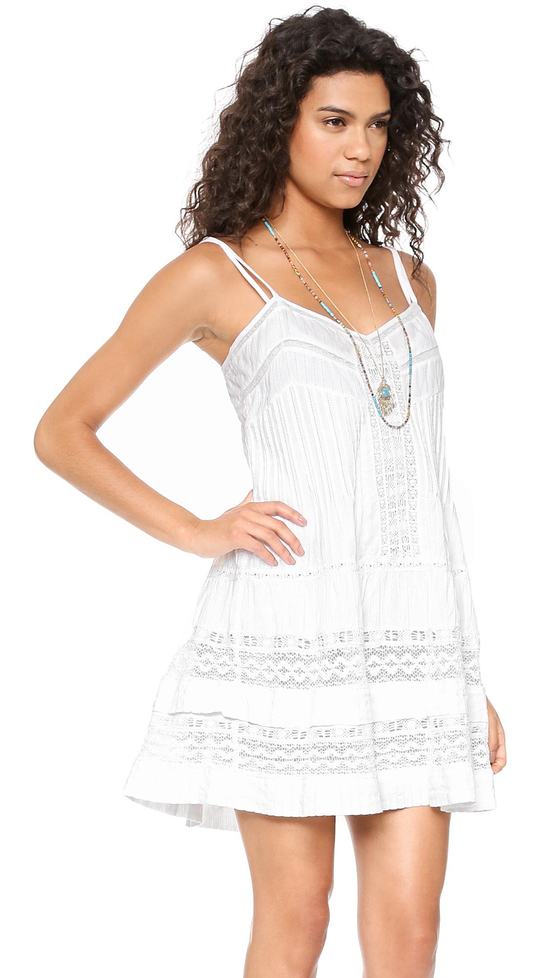 Mini Western Lace Dress White
