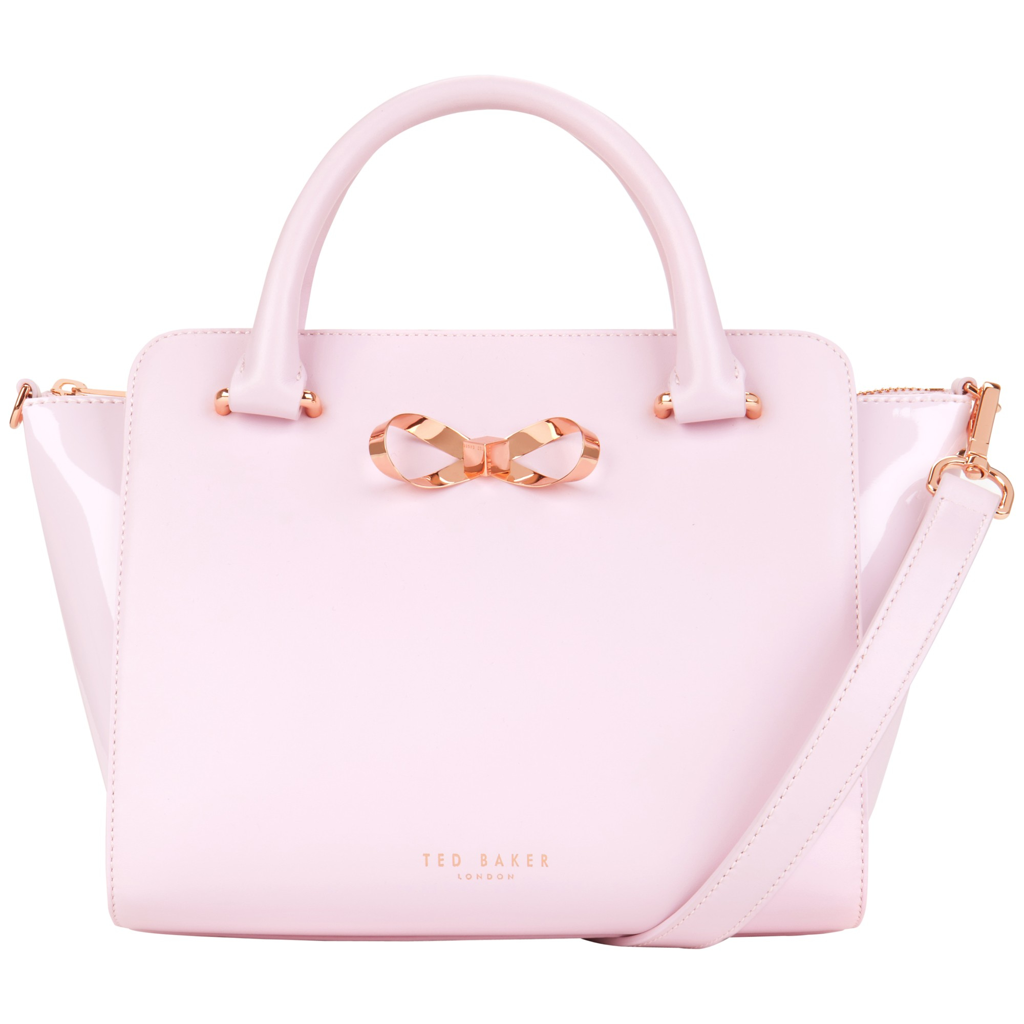 7c9c74bff8d8a Ted Baker Paiton Bow Leather Tote Bag in Pink - Lyst