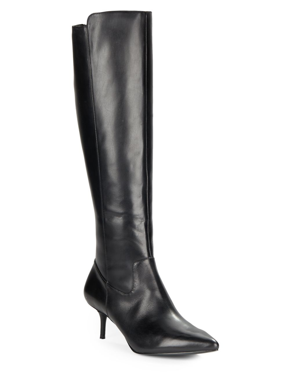 enzo angiolini leather knee high boots in black lyst