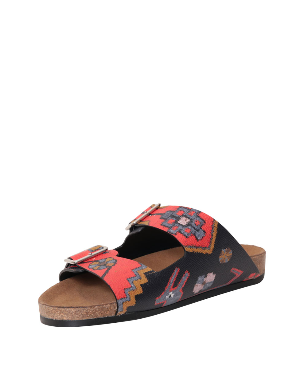 Givenchy Persian Nappa Leather Swiss Sandal In Multicolor
