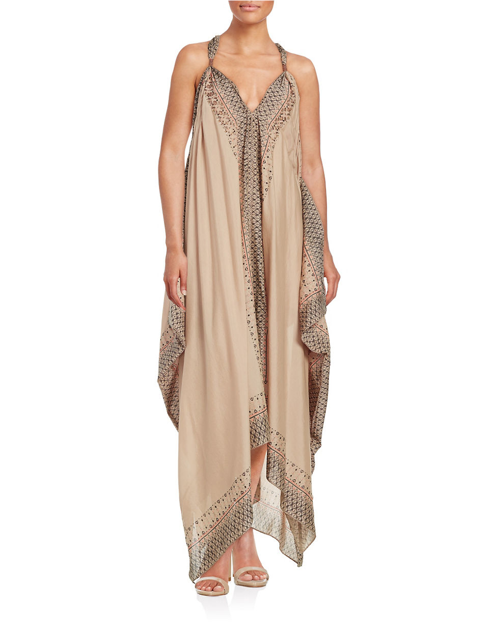 Free people Merida Patterned Maxi Dress in Natural | Lyst
