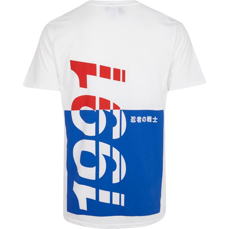 River Island Blue Anticulture Cherub Print T-Shirt for Men