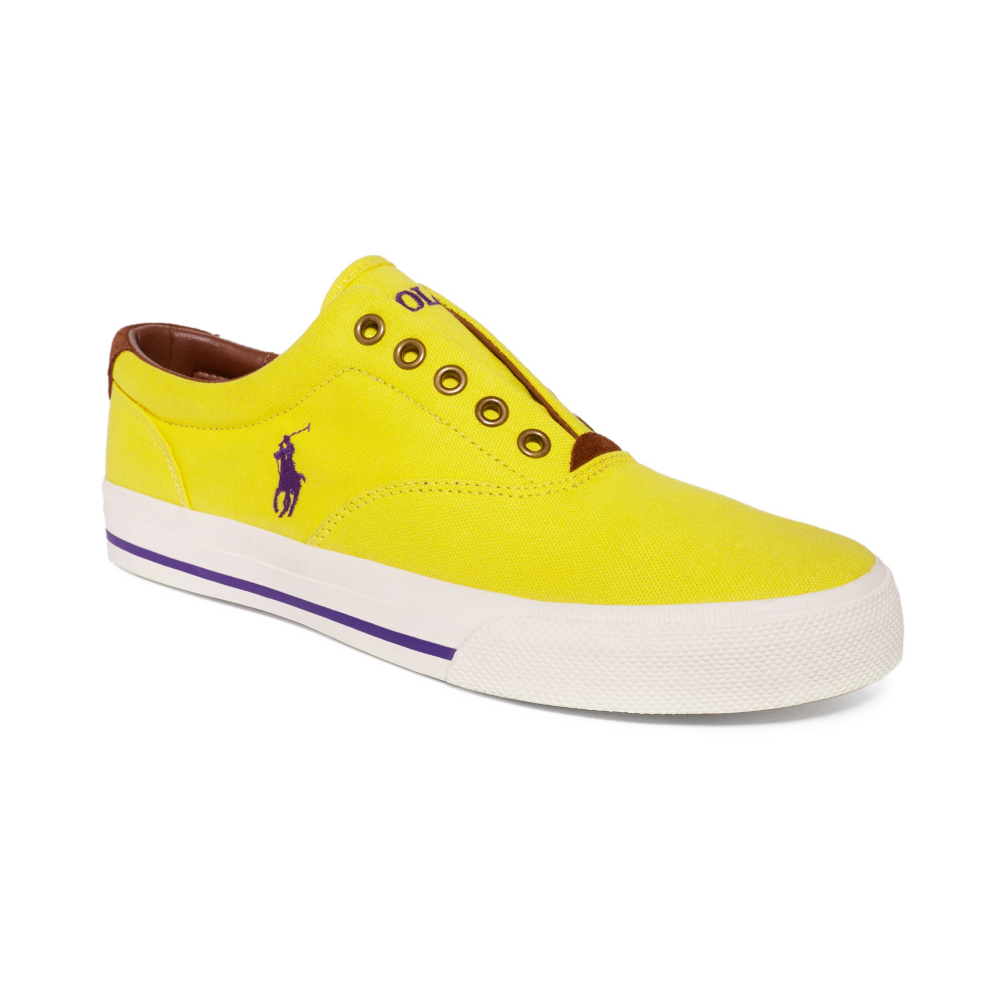 ralph lauren polo vito sneakers in yellow for men lyst. Black Bedroom Furniture Sets. Home Design Ideas