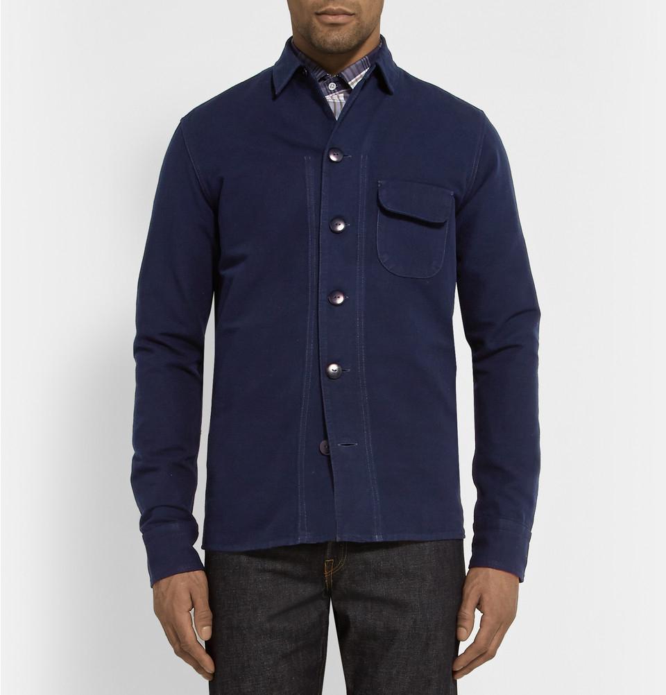 Simon Miller M053 Beckley Indigo-Rinsed Denim Jacket in Blue for Men