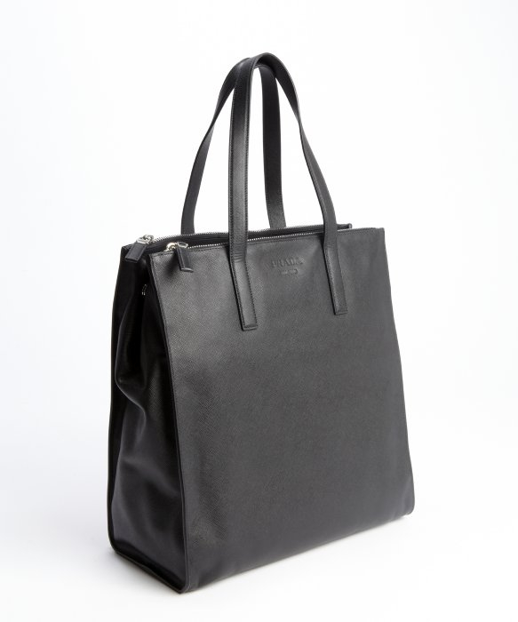 dfab4d756249 ... coupon for prada black leather top handle travel bag in black for men  lyst 764f8 7fb07