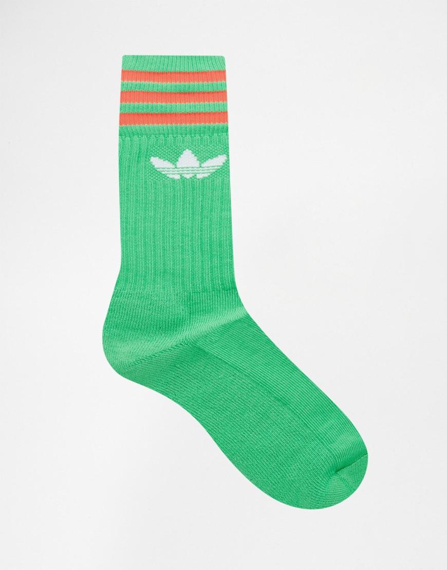 Adidas Originals 3 Pack Crew Socks In Multi Aj8912 For Men Lyst