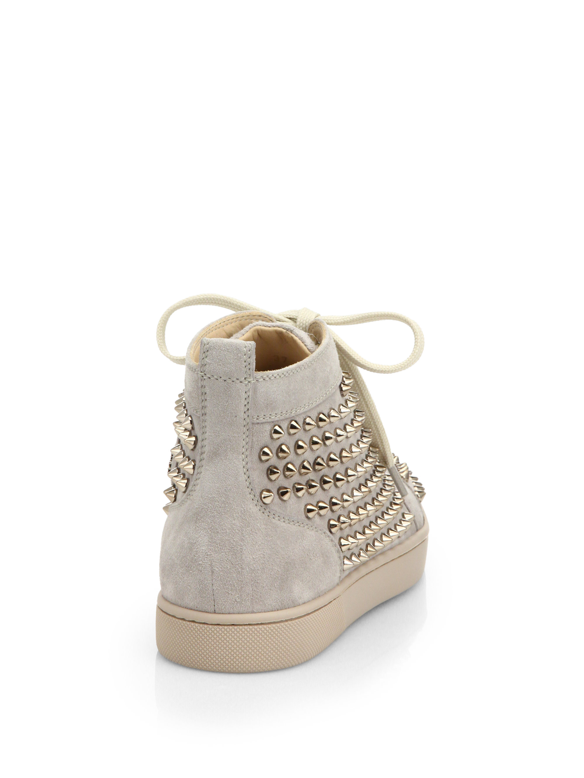 christian louboutin suede high-top sneakers | cosmetics digital ...