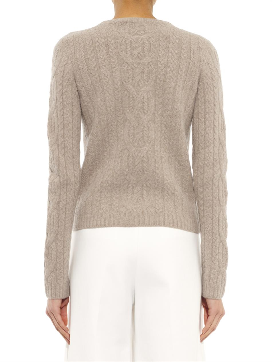 The Row Felicity Wool And Cashmere-Blend Sweater in Natural