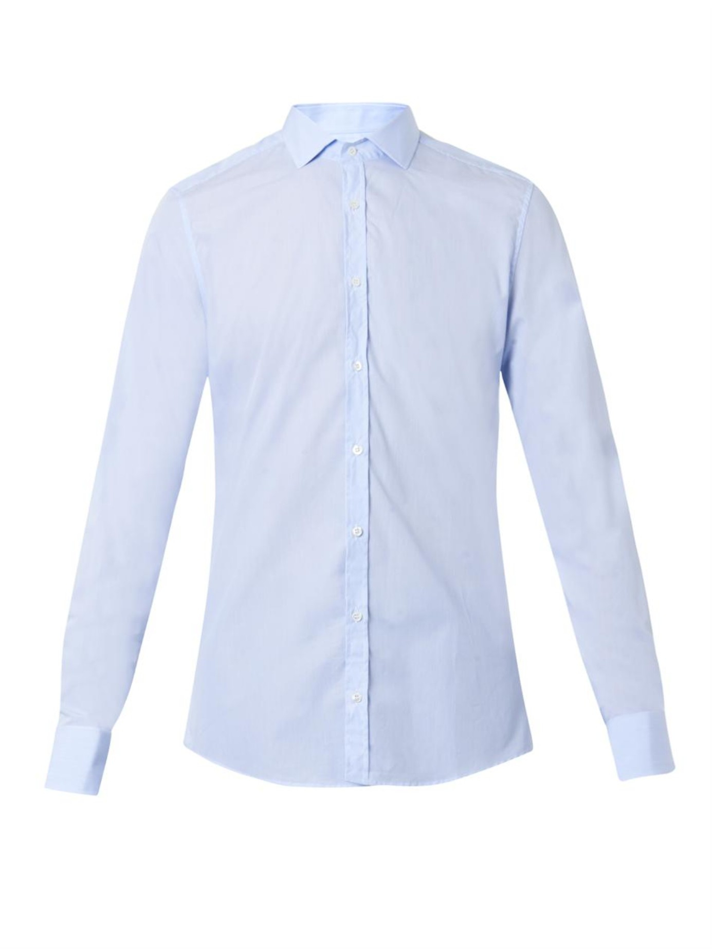 Gucci Pinstripe Slim Fit Cotton Shirt In Blue For Men Lyst