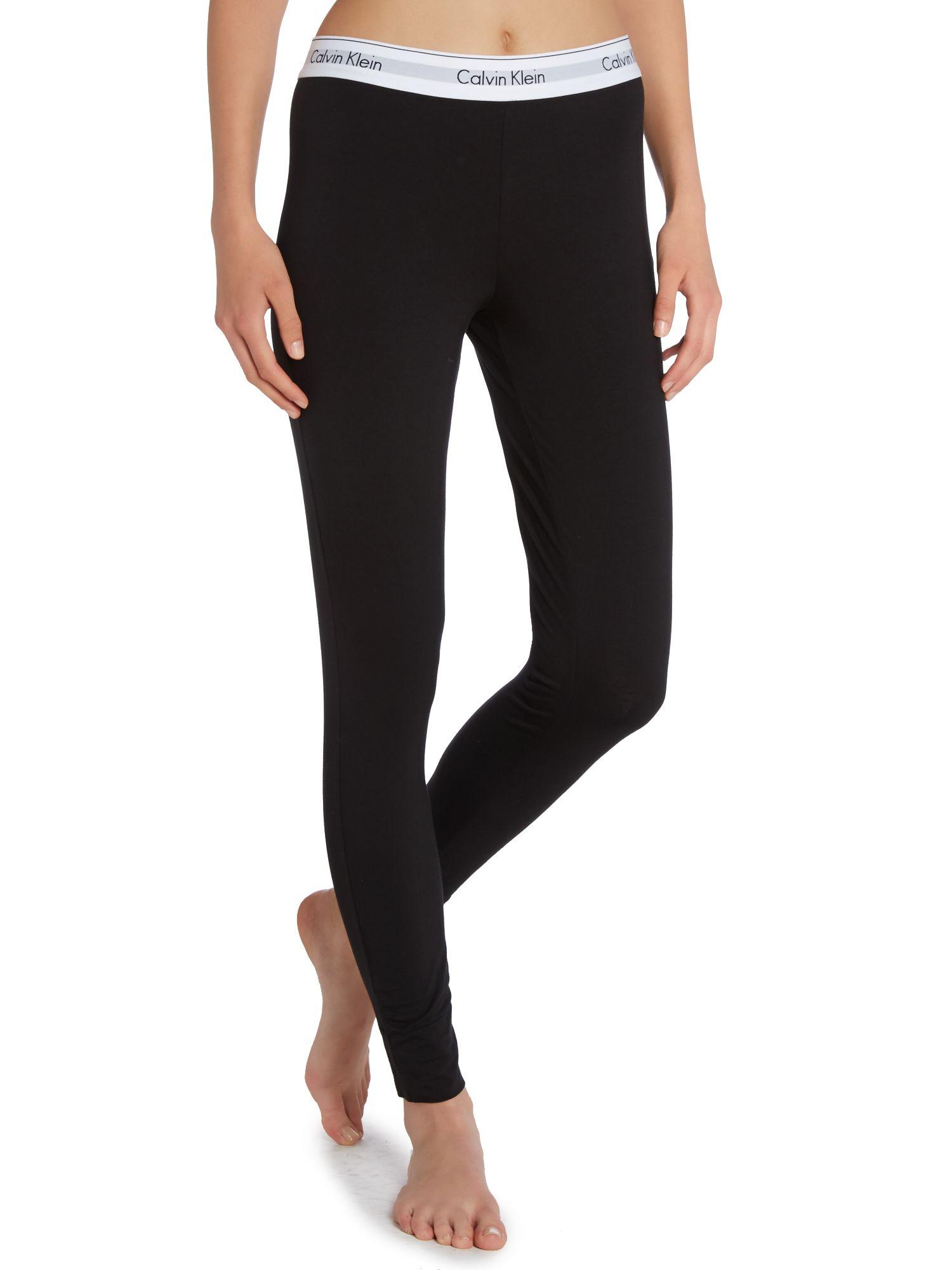 Calvin Klein Black Pyjama Pant In Black Lyst