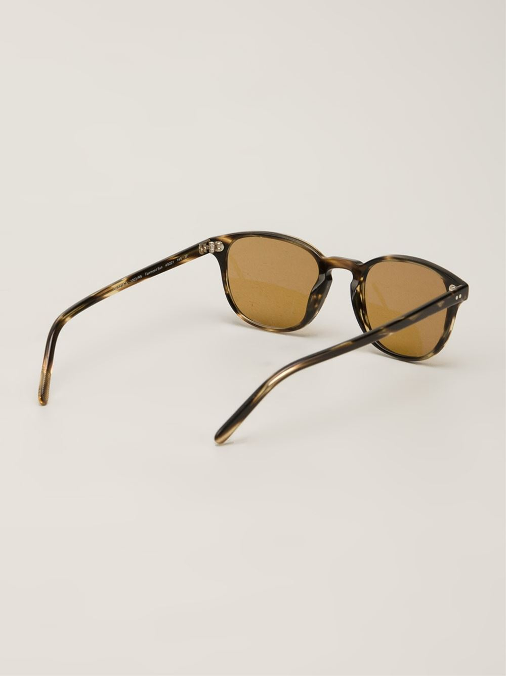 2389e92dac57 Lyst - Oliver Peoples Fairmont Sun Sunglasses in Brown