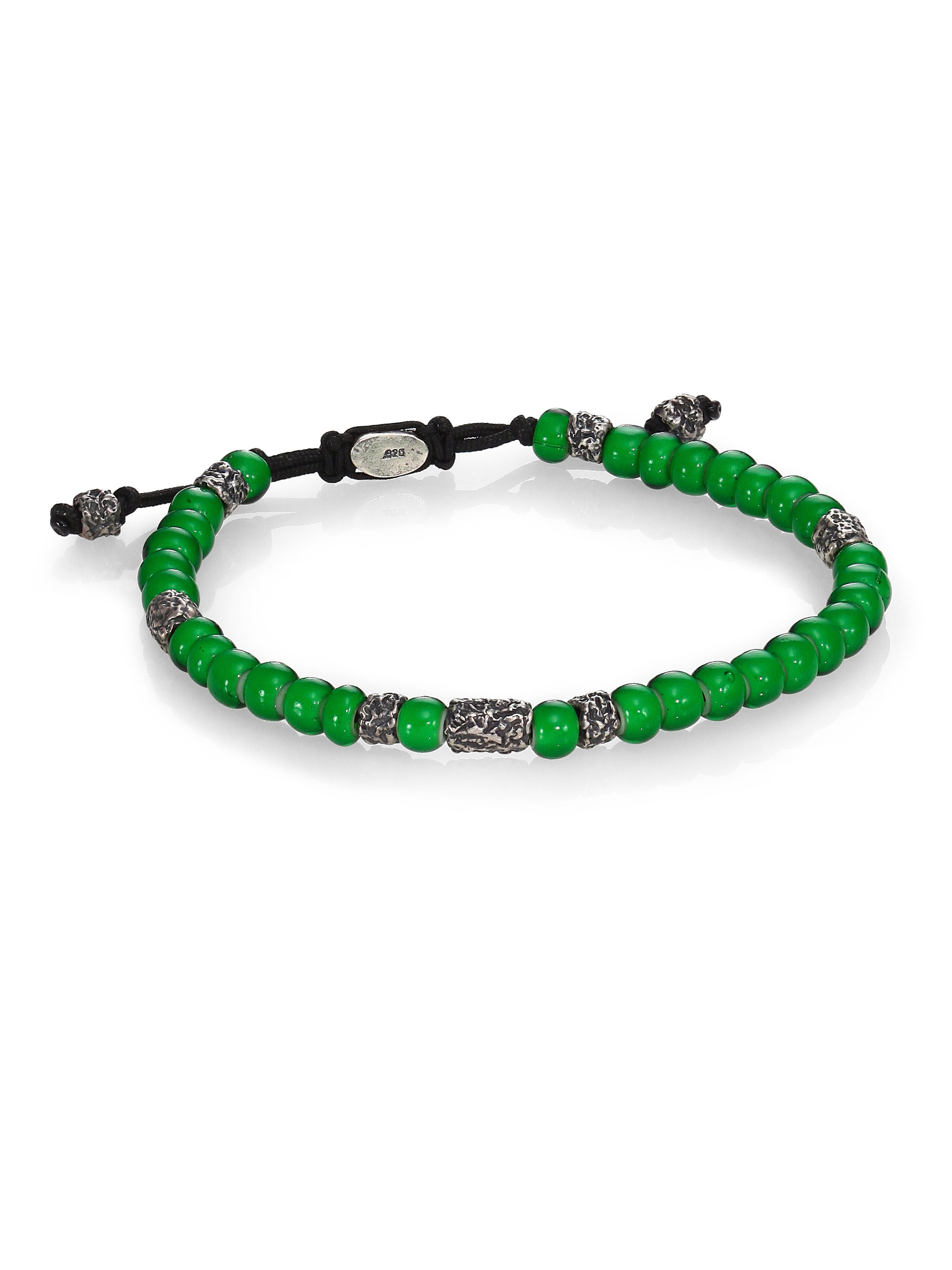 M. Cohen African Beads Stacked Bracelet in Green | Lyst