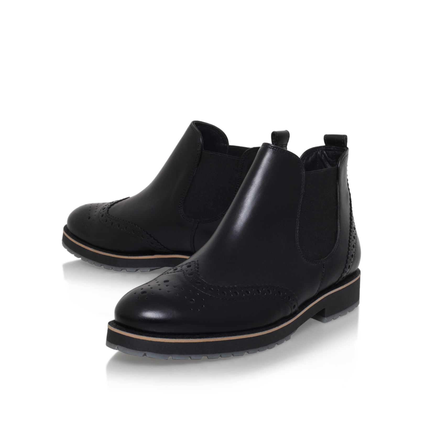 paul green chelsea fl bt low heel ankle boots in black for. Black Bedroom Furniture Sets. Home Design Ideas