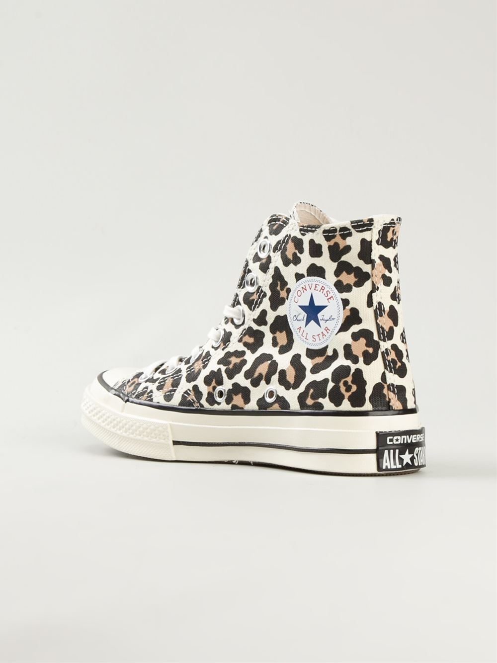 converse 39 chuck taylor 39 leopard print sneakers in brown lyst. Black Bedroom Furniture Sets. Home Design Ideas