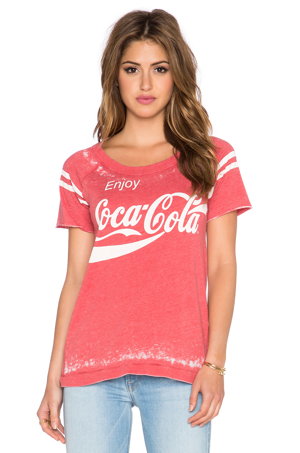 chaser enjoy coca cola tee in red lyst. Black Bedroom Furniture Sets. Home Design Ideas