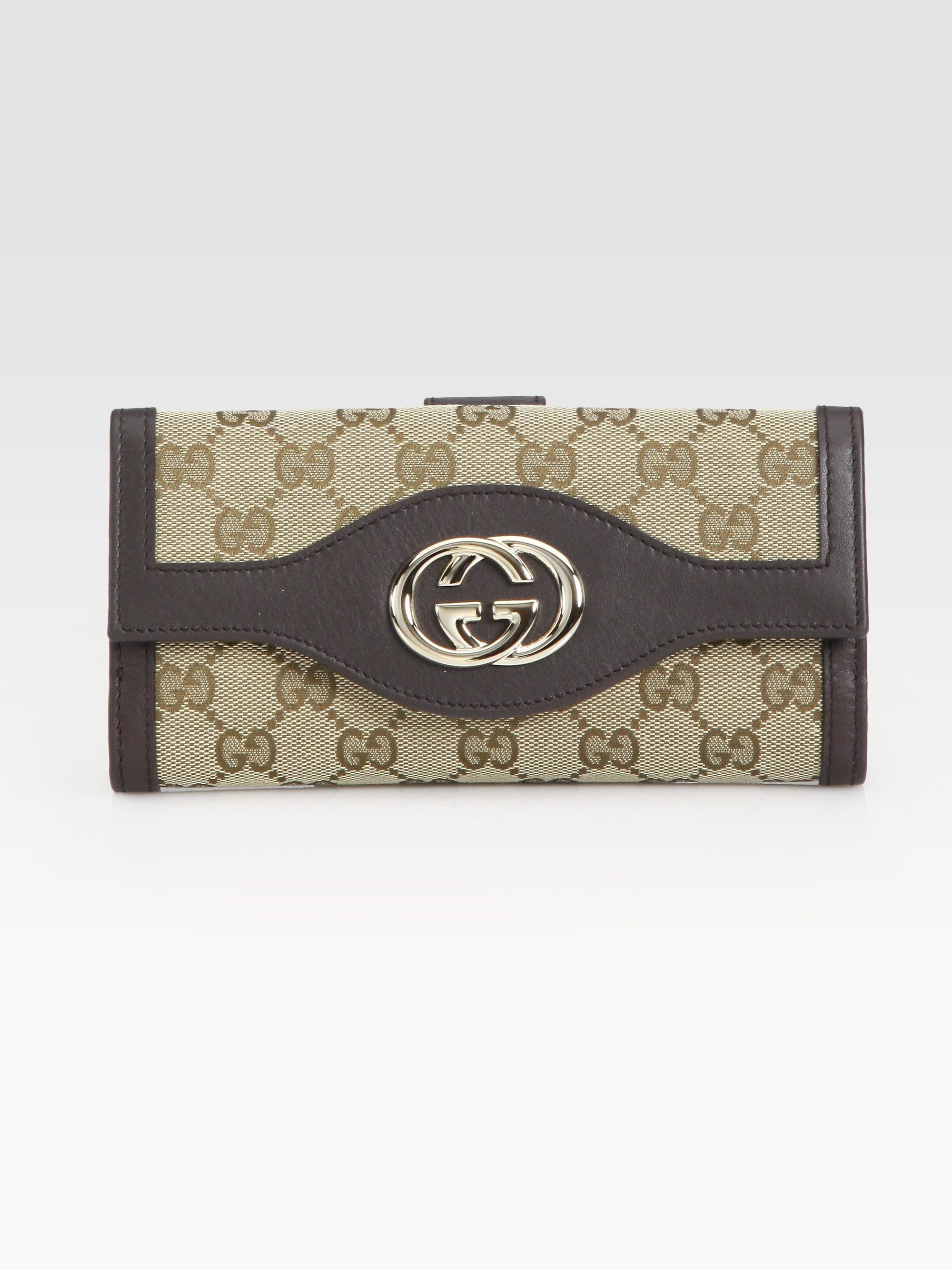 50894d75e6062a Gucci Sukey Continental Wallet in Brown - Lyst
