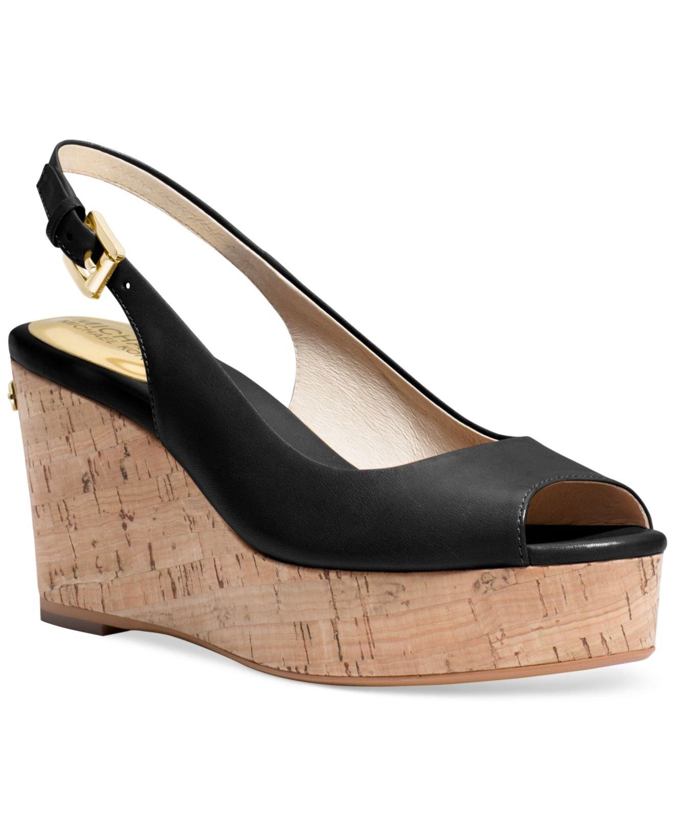 d16da1eeb99 ... Lyst - Michael Kors Michael Natalia Platform Sandals in Blac ...