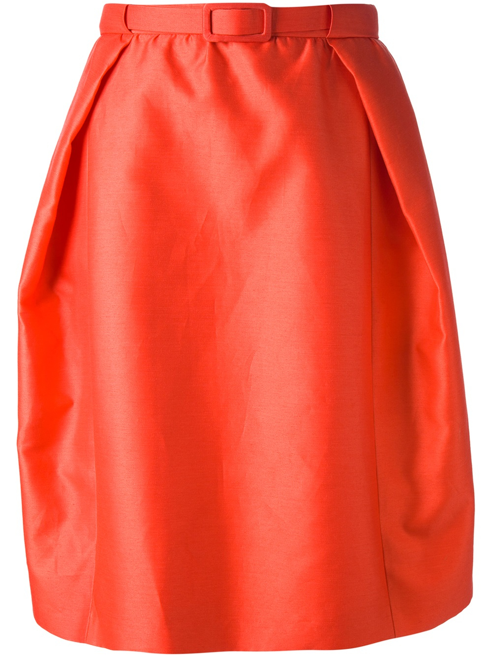 carven pleated tulip skirt in lyst