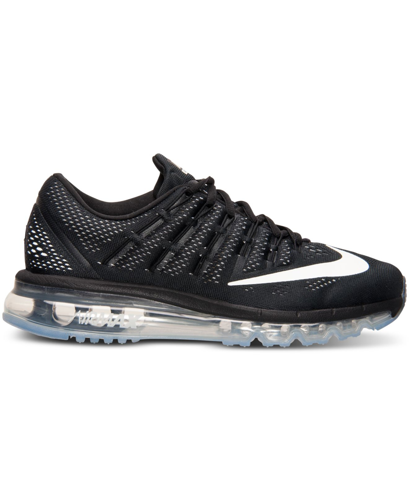 Nike Women's Air Max 2016 Running Sneakers From Finish Line in Black/White (Black) - Lyst