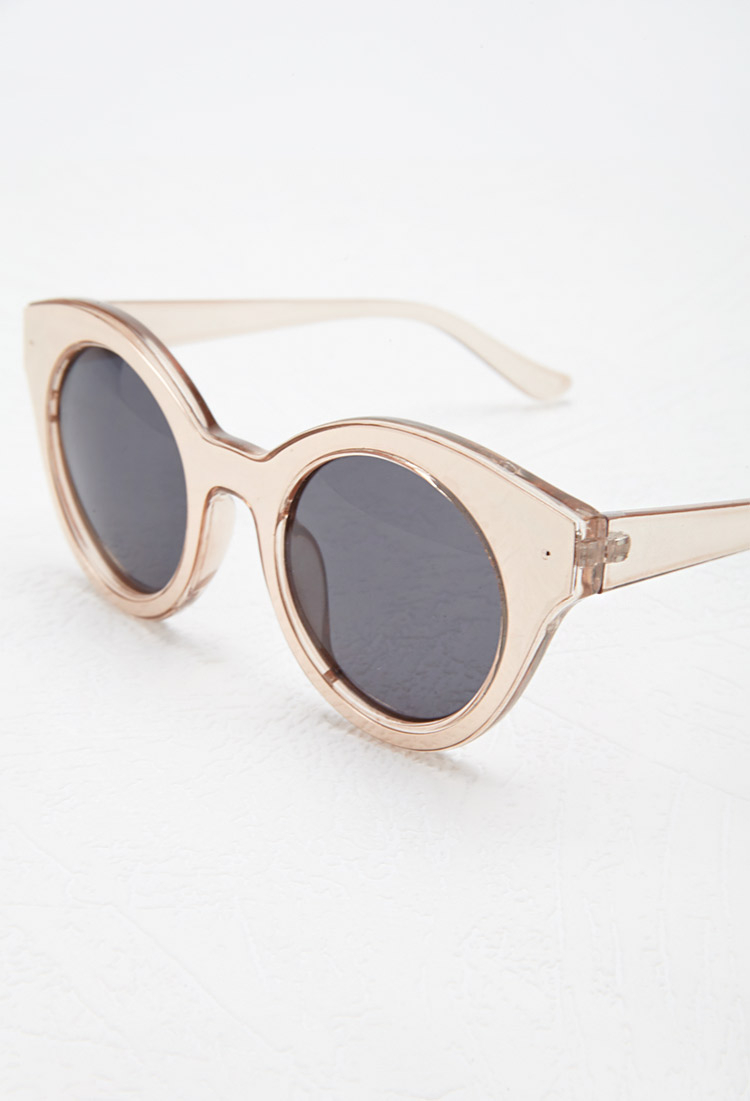 a7027c1e80d Lyst - Forever 21 Metallic Cat Eye Sunglasses in Metallic